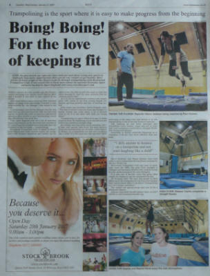 Photo of Gazette article as published